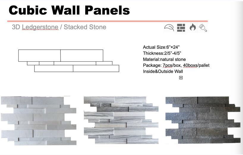 Natural stone wall panels