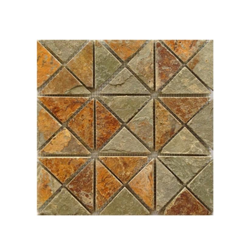 Rusty stone mosaic